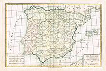 1806-1846. Spain & Portugal: A Collection of Hand Coloured Maps (9)