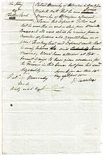 1800 and 1812 Documents from Lord Kilwarden and Lord Norbury, signed by both men.