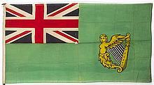 19th century, Irish Merchant Navy Green Ensign.