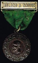 Circa 1891. Charles Stewart Parnell commemorative medal.