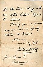 31 August 1883 Michael Davitt autograph letter
