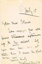 1880s, an autograph letter from Michael Davitt,