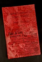 1904 - 5. The National Telephone Company's Directory. Irish Section.