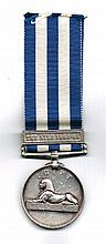 1882 - 1889 Egypt Medal, Royal Irish Regiment.