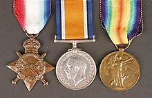1914-18 World War I Trio, Royal Irish Rifles medals