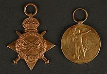 World War I 1914 Stars and Victory medals