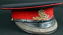 World War I Royal Artillery Officer's dress cap.