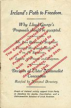 1916 (July). Ireland's Path To Freedom - Why Lloyd George's Proposals Should Be Accepted booklet.