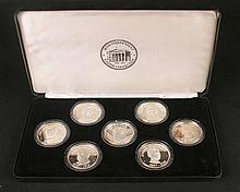 1916 Rising 75th Anniversary set of seven commemorative silver medals.