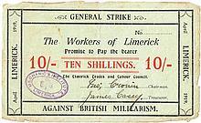 1919 Limerick Soviet, Ten Shillings note