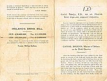 1920 Cathal Brugha, anti-drink tract