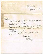 9 June 1922, Cathal Brugha autograph letter