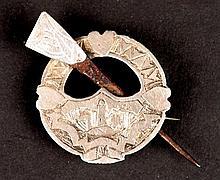 1922. Civil War Prison Art - a silver brooch from Kilkenny Prison.