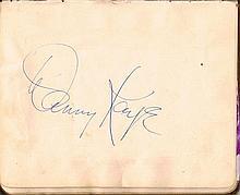 1940s and 1950s autograph album