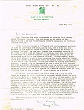 25 May, 1977 Airey Neave letter to a student  (2)