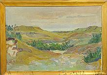 Egebaek, Vedel Tave [Danish, 1910-] Large oil on canvas landscape painting signed l.r.