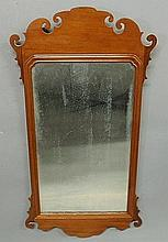 Large Philadelphia Chippendale mahogany framed mirror, c.1770, with partial lable of John Elliot verso. 38.5