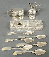 Continental silver creamer, 18th c., 4.5