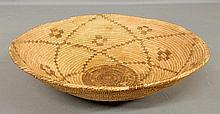Large round Southwest Indian basket, c.1900. 4