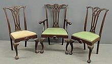 Set of ten Philadelphia Centennial Chippendale mahogany dining room chairs, 9 side chairs 41
