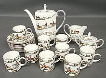 Porcelain coffee service by Coalport in the