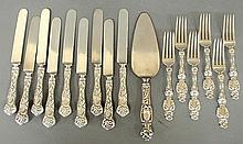 Partial sterling silver flatware service by Whiting in the
