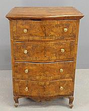 Diminutive French Provincial walnut four-drawer chest, 18th c. 33