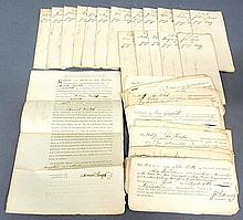 Seventeen 18th c. deed applications13