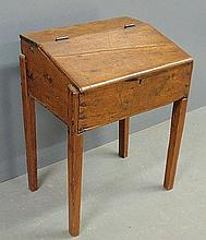 Country pine slant-lid desk, 19th c. 29.5