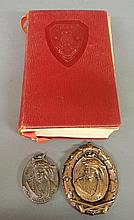 Ogontz School 1922 yearbook and two bronze