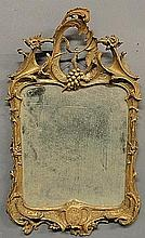 Carved gilt framed Italian mirror, c.1790. 32