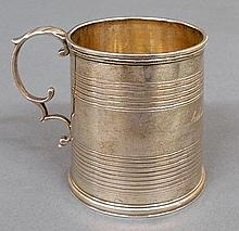 Coin silver baby cup by Lincoln & Reed, inscribed