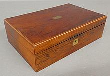 English rosewood lap desk, c.1840. 4.5