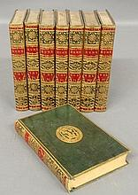 Books- eight volumes History of England, Hume, David, Dublin 1780, royal 8-vo, full green contemporary Morocco prize binding for Trinity College.