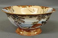 Japanese porcelain Satsuma bowl, 19th c., with koi fish decoration. As found. 5