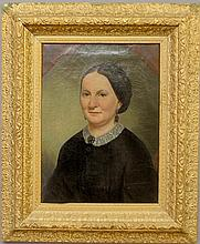 Oil on canvas portrait of a woman, c.1880, mounted in a gilt frame. Site- 24