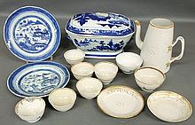 Fourteen pieces of Chinese porcelain- Canton tureen 7