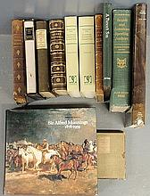 Books- eight books on equestrian art and book reference to incl. 2 books- Scwerdt, Hunting, Hawking, Shooting, reprint; Lyme, Michael Parson's Son, 1/1000; Aldin, Cecil Old Inns, full Morocco; art of A.J. Munnings by Stanley Booth; George Stubbs art,