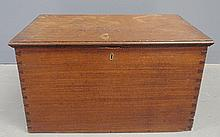 Mahogany storage chest, c.1830, with dovetailed construction. 11