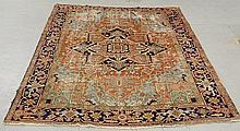 Room size Heriz oriental carpet. 10'3