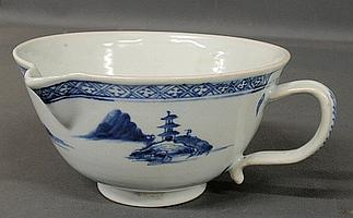 Blue and white Chinese Nanking porcelain serving bowl. Provenance: Christie's, The Nanking Cargo, Lot 4116. 3