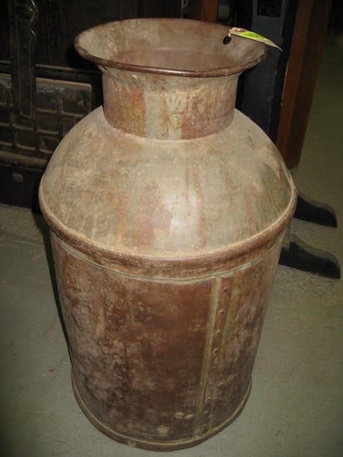 Antique Metal Milk Can from Wichita Creamery