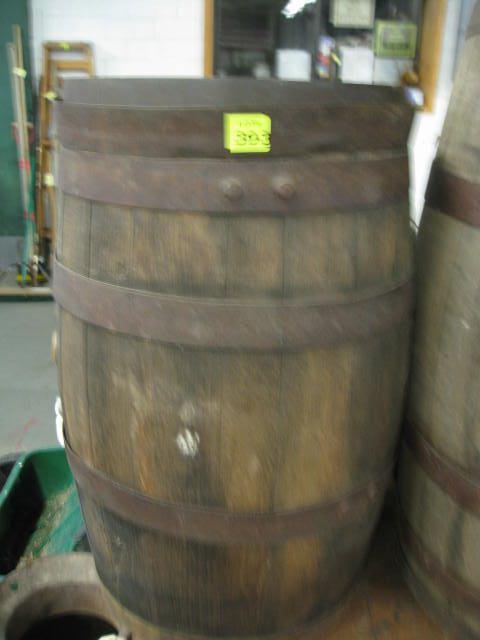 "Antique Whiskey Barrel 23"" T X 13"" Diameter"