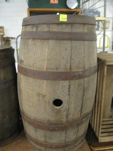 "Antique Whiskey Barrel 29"" T X 15"" Diameter"