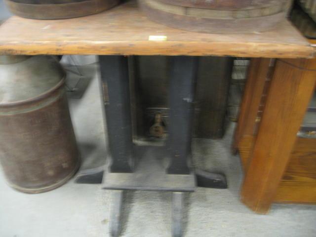 Antique Wood Pedestal Table