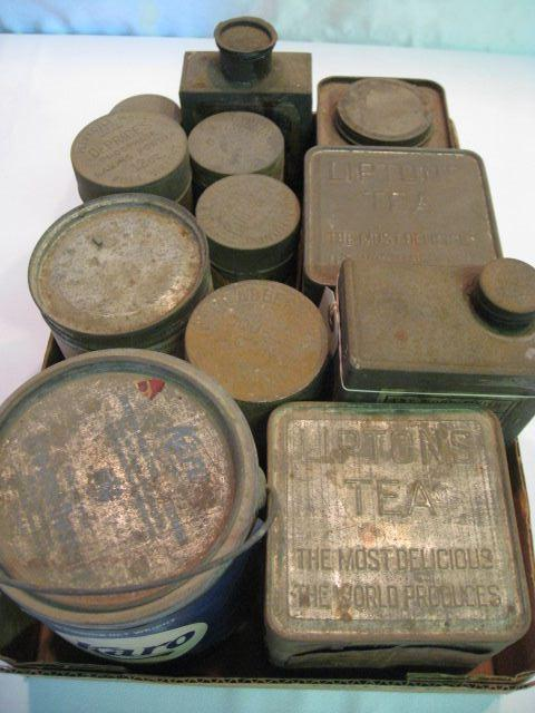 (12) Assorted Tins