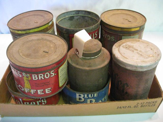 (8) Assorted Coffee Tins