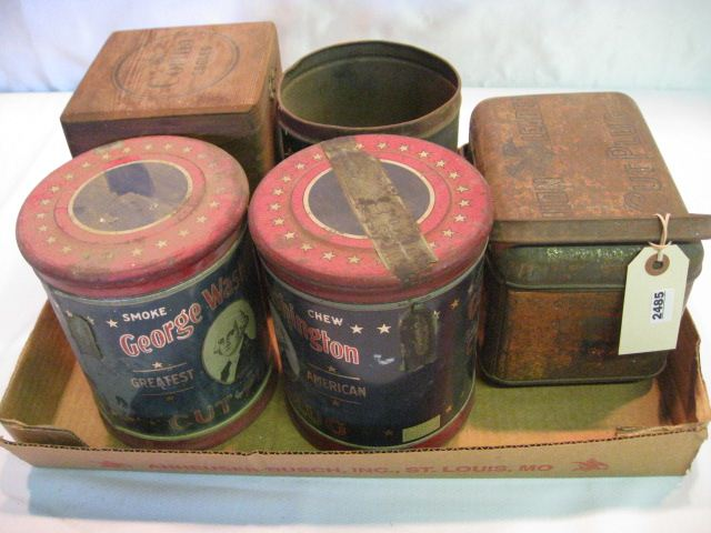 (5) Assorted Tobacco Tins