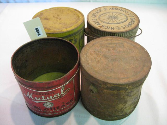 (4) Assorted Oil & Grease Tins