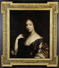 Studio of Sir Peter Lely. A 17th Century Oil on Canvas: Half length Portrait of Anne Hyde, 30 ins x